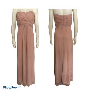 Le Chateau Rose Pink Strapless Chiffon Gown Dress
